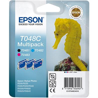 Epson C13T048C4010 T048C 3-Colour Multipack (Black/Cyan/Magenta)