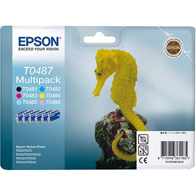 Epson C13T04874010 T0487 6-Colour Multipack (6 x 13ml)
