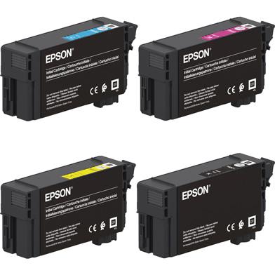 Epson EPST40CVAL T40C UltraChrome XD2 Ink Cartridge Value Pack CMY (26ml) K (50ml)