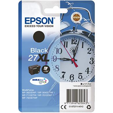 Epson C13T27114012 27XL Black Ink Cartridge (1,100 Pages)