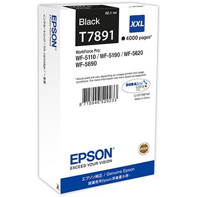 Epson C13T789140 T7891 Black XXL Ink Cartridge (4,000 Pages)
