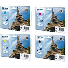 Epson  T702 XL Ink Cartridge Bundle Pack CMY (2K) K (2.4K)