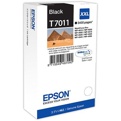 Epson C13T70114010 T7011 Black XXL Ink Cartridge (3,400 Pages)