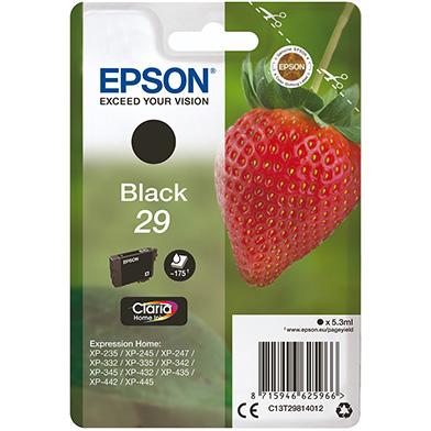Epson C13T29814012 Black No.29 Ink Cartridge (175 Pages)
