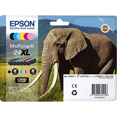 Epson C13T24384011 24XL 6 Colour Ink Cartridge Multipack