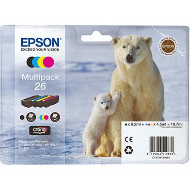 Epson C13T26164010 26 4-Colour Ink Cartridge Multipack