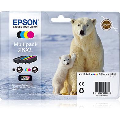 Epson C13T26364010 26XL 4-Colour Ink Cartridge Multipack