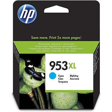HP F6U16AE 953XL Cyan Ink Cartridge (1,600 Pages)