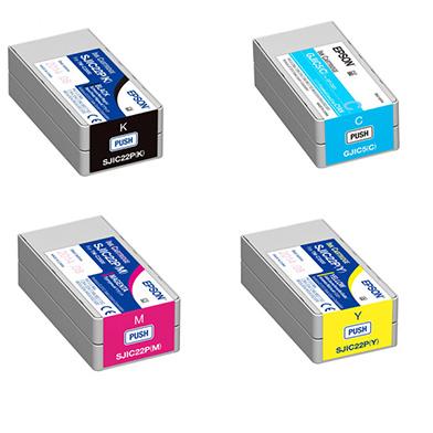 Epson GPC831TONERVALPACK GJIC5 GP-C831 Rainbow Ink Cartridge Pack