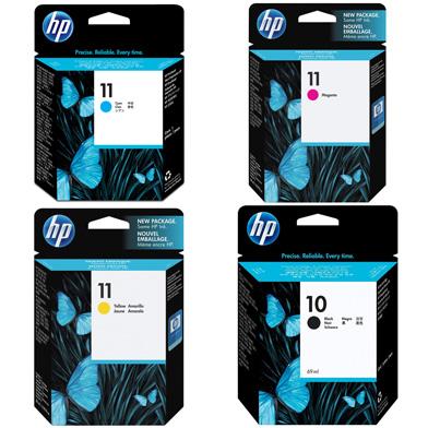HP 10/11 CMYK Ink Cartridge Value Pack