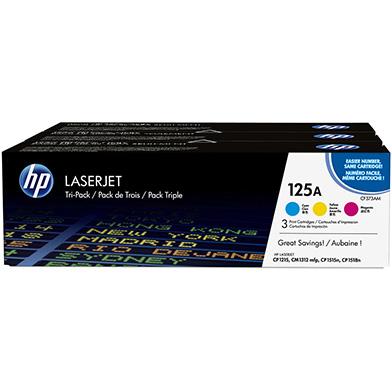 HP 125A Tri-Pack Toner Cartridges (CMY) 1.4k