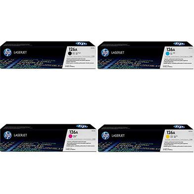 HP 126A Toner Rainbow Pack CMY (1k) + Black (1.2K)