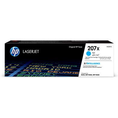 HP W2211X 207X High Capacity Cyan Toner Cartridge (2,450 Pages)