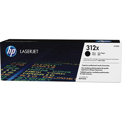 HP CF380X 312X High Cap Black Toner Cartridge (4,400 pages)