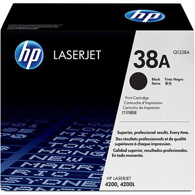 HP Q1338A 38A LaserJet Standard Capacity Black Print Cartridge (12,000 pages)