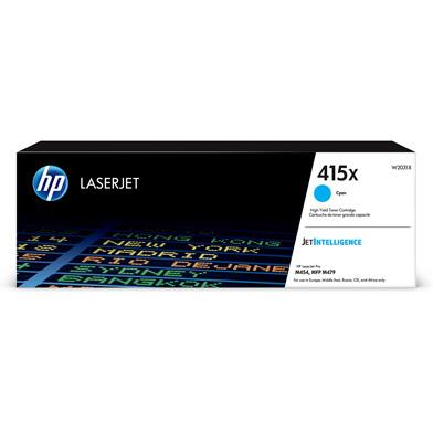 HP W2031X 415X Cyan High Yield Toner Cartridge (6,000 Pages)