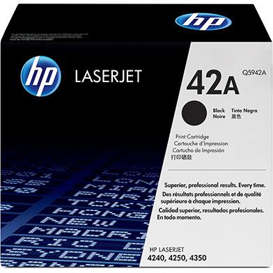 HP Q5942A 42A LaserJet Black Print Cartridge (10,000 Pages)