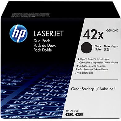 HP Q5942XD 42X Black Toner Dual Pack (20,000 pages)