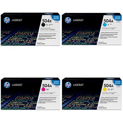 HP  504X/504A Toner Rainbow Pack CMY (7k) + Black (10.5k)