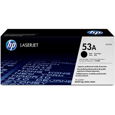 HP Q7553A 53A Black Print Cartridge (3,000 pages)