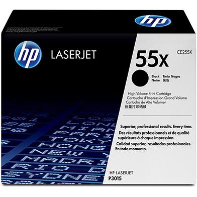 HP CE255X 55X Black Print Cartridge (12,500 pages)
