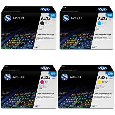 HP 643A Toner Rainbow Pack CMY (10k) + Black (11k)