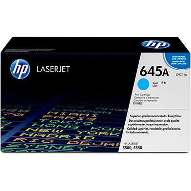 HP C9731A 645A Cyan Print Cartridge (12,000 pages)