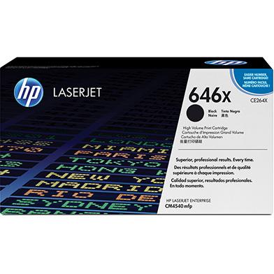 HP CE264X 646X Hi-Cap Black Toner Cartridge (17,000 pages)
