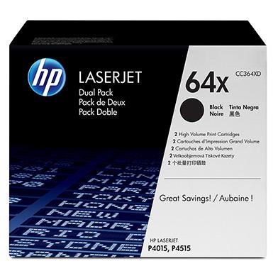 HP CC364XD 64X Black Toner Dual Pack (24,000 pages)