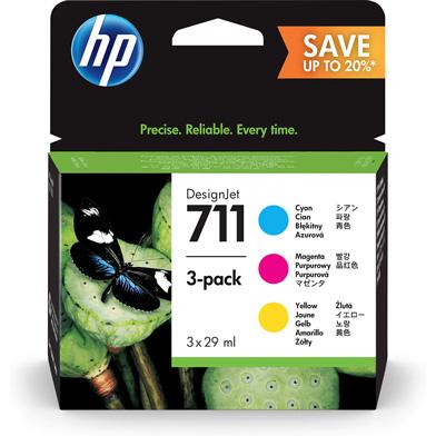 HP 711 CMY Ink Cartridge 3-Pack (29ml)