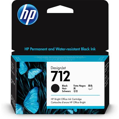 HP 3ED70A 712 Black DesignJet Ink Cartridge (38ml)