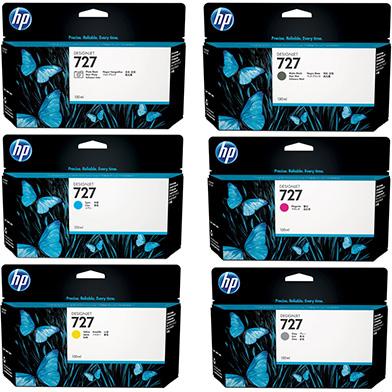 HP HP727INKVAL130 727 Ink Cartridge Value Pack (130ml x 6)