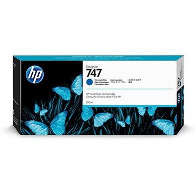 HP 747 Chromatic Blue Ink Cartridge (300ml)