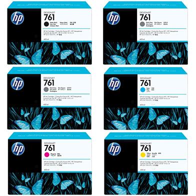 HP HP761INKVAL440 No.761 Ink Cartridge Value Pack (400ml x 6)