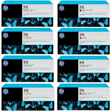 HP HP771INKVAL No.771 Ink Cartridge Value Pack (775ml x 8)