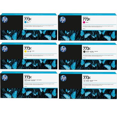 HP HP773CINKVAL 773C Ink Cartridge Value Pack (6 x 775ml)