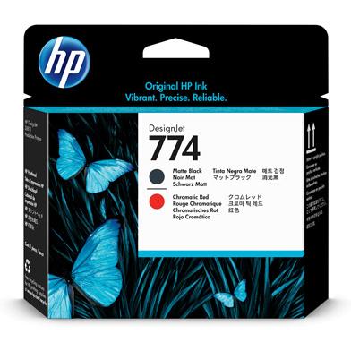 HP P2V97A 774 Matte Black/Chromatic Red DesignJet Printhead