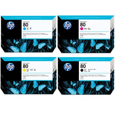 HP No.80 CMYK Ink Cartridge Bundle Pack (4 x 350ml)