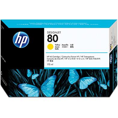 HP C4873A No.80 Yellow Ink Cartridge 175ml