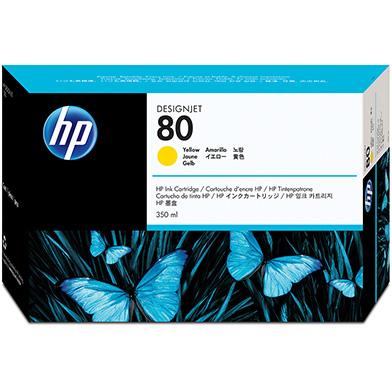 HP C4848A No.80 Yellow Ink Cartridge 350ml