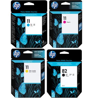 HP HP8211INKVAL No.11/No.82 Ink Cartridge Value Pack (4 x 69ml)