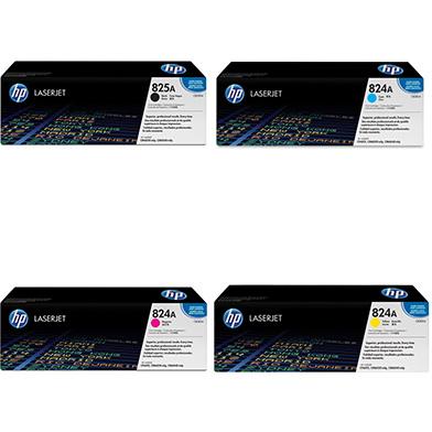 HP  825A/824A Toner Rainbow Pack CMY (21k) + Black (19.5k)