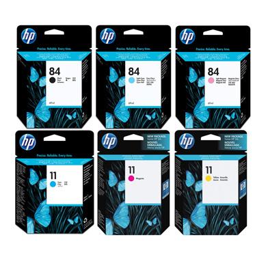 HP 11/84 Ink Cartridge Bundle Pack (6 x 69ml)