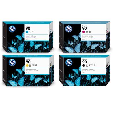 HP HP90STDINKVL 90 Standard Ink Cartridge Bundle Pack CMY (225ml) K (400ml)