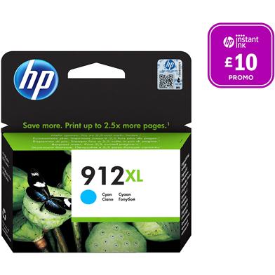 HP 912XL Cyan Ink Cartridge (825 Pages)