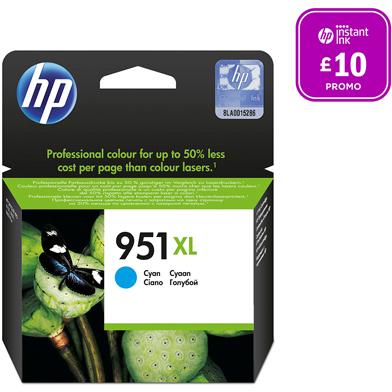 HP No.951XL Cyan Ink Cartridge (1,500 Pages)