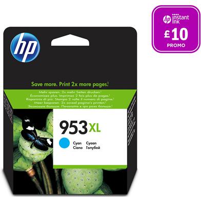 HP 953XL Cyan Ink Cartridge (1,600 Pages)