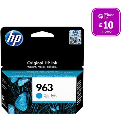 HP 3JA23AE 963 Cyan Ink Cartridge (700 Pages)