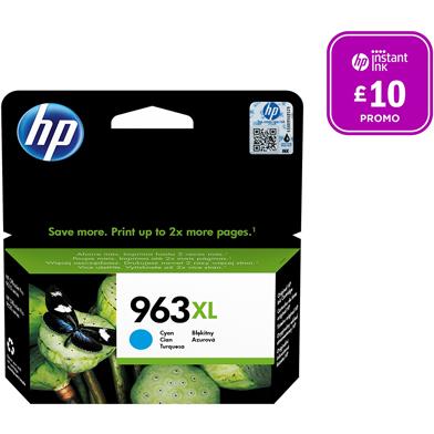 HP 3JA27AE 963XL Cyan Ink Cartridge (1,600 Pages)