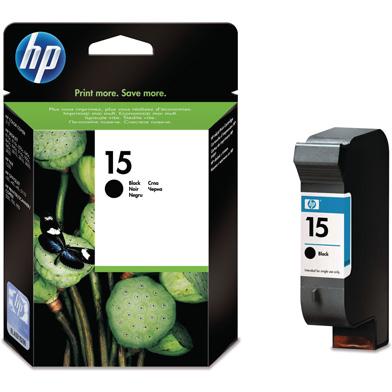 HP No.15 Black Inkjet Print Cartridge (25ml)